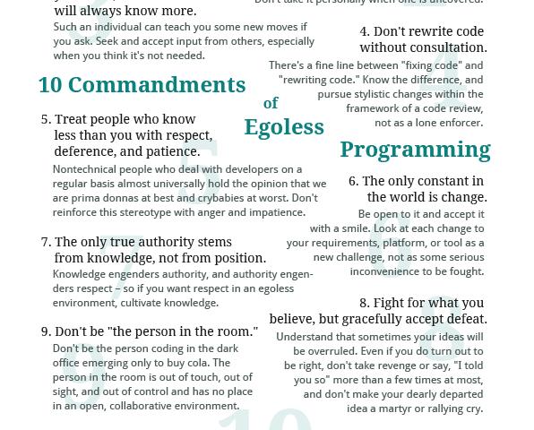 Egoless Programming