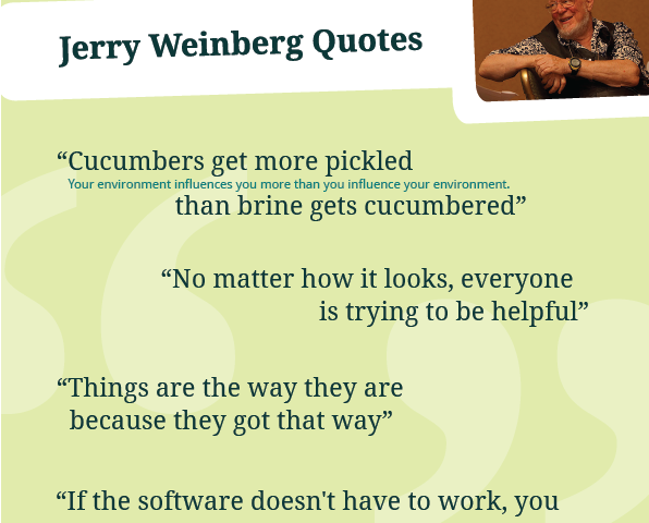 Gerald M. Weinberg Quotes