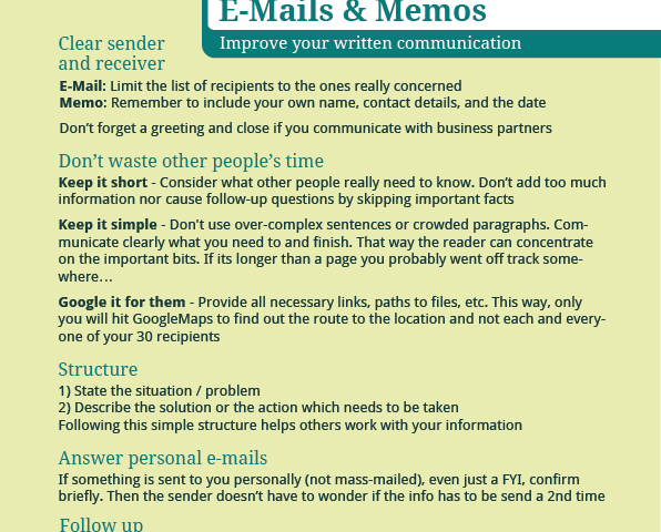 E-Mails & Memos – Improve your written communication