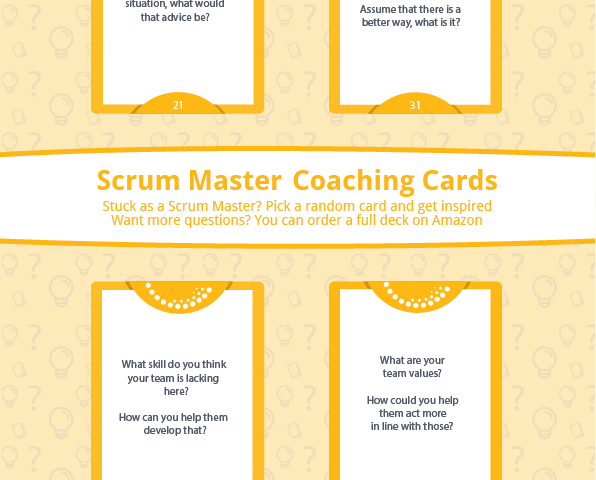 Scrum Master Coaching Cards