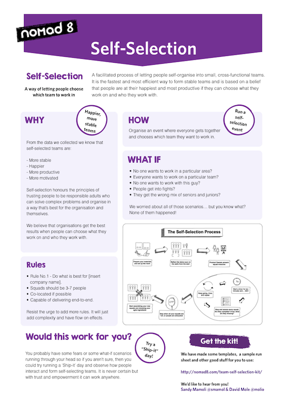 Self-Selection On a Page
